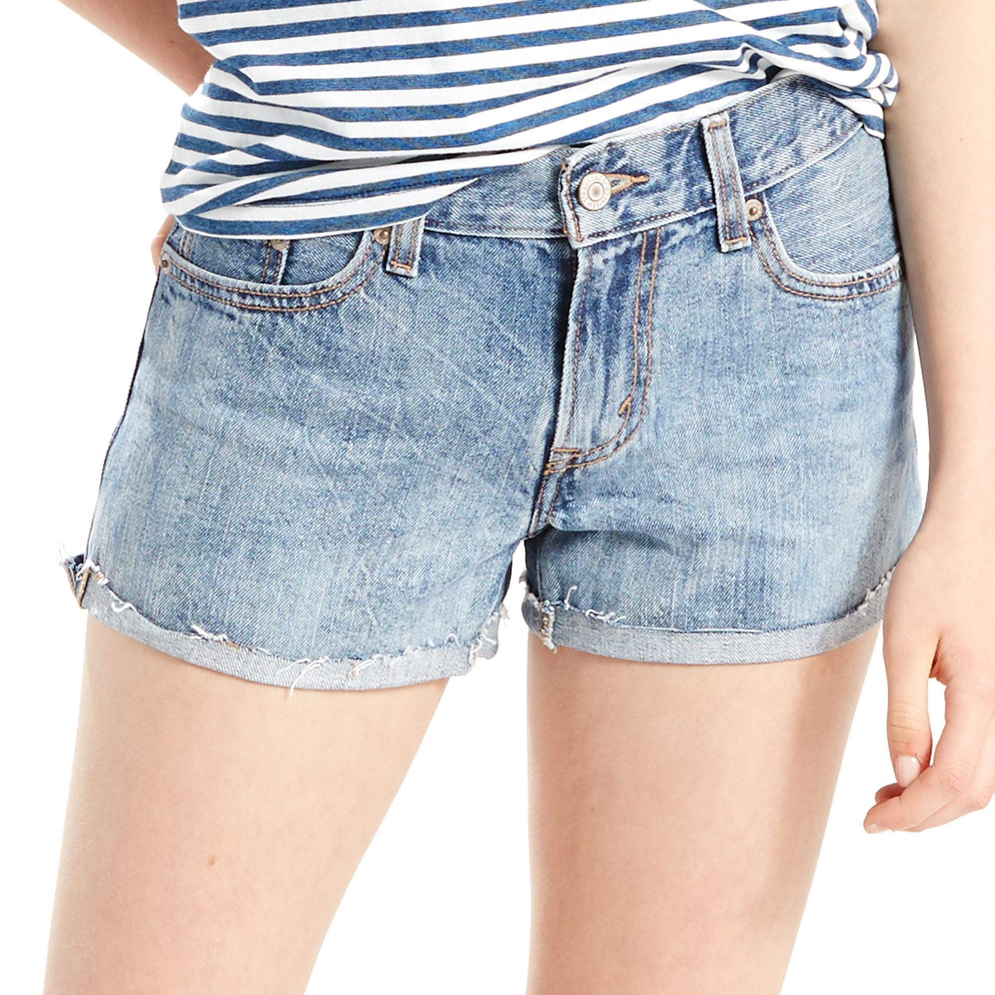 4a20e1bd Women's Levi's Mid-Length Jean Shorts | Products | Jean Shorts, Blue ...