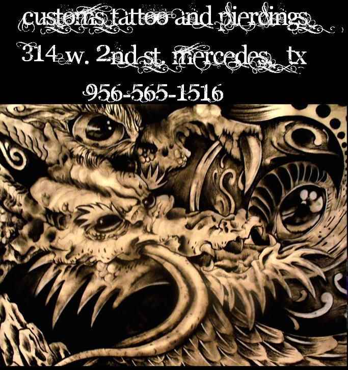 FLYER THAT WE MADE FOR CUSTOMS TATTOO