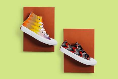 Converse X Missoni Redesigned the Chuck Taylor All Star II   										Italian knitwear experts Missoni teamed up with Converse to release a series of co-branded knit sneakers.  Known for knits in bright colors and bold patterns, this sneaker remix seems to be the collaboration that best...