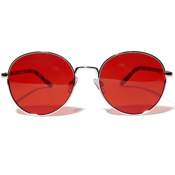 b1c818ed290 Round Red Sunglasses ( 18) ❤ liked on Polyvore featuring ...