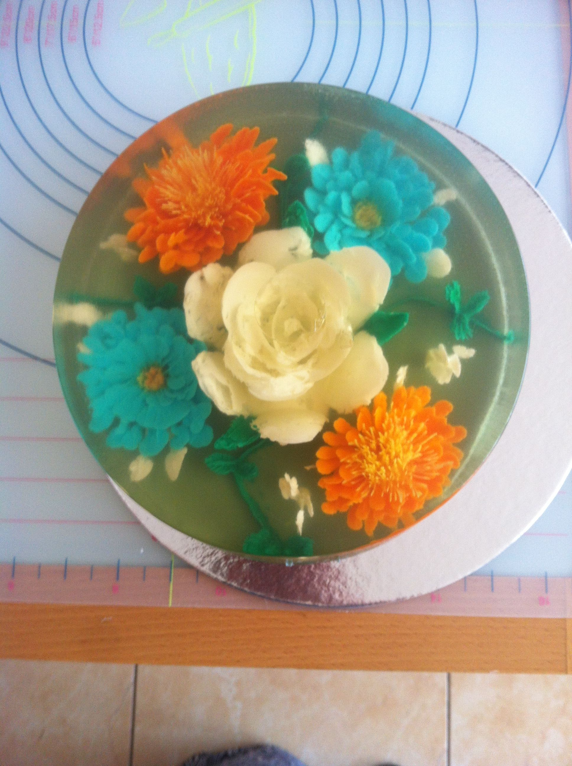 Gelatina 3D Flores