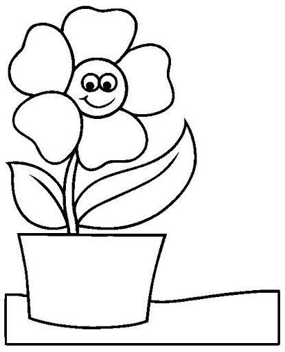 Flor En Maceta Dibujos De Flores Dibujos Paginas Para Colorear De Flores
