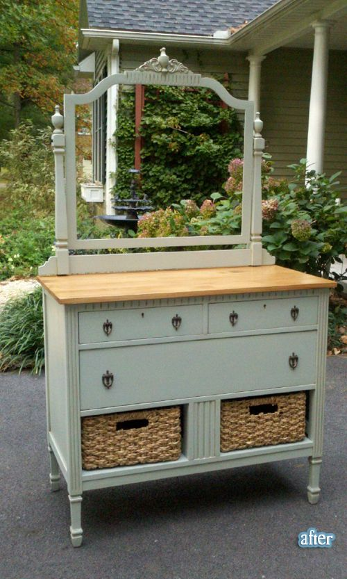 This re-do deals with a missing bottom drawer in a really nice way.  :)