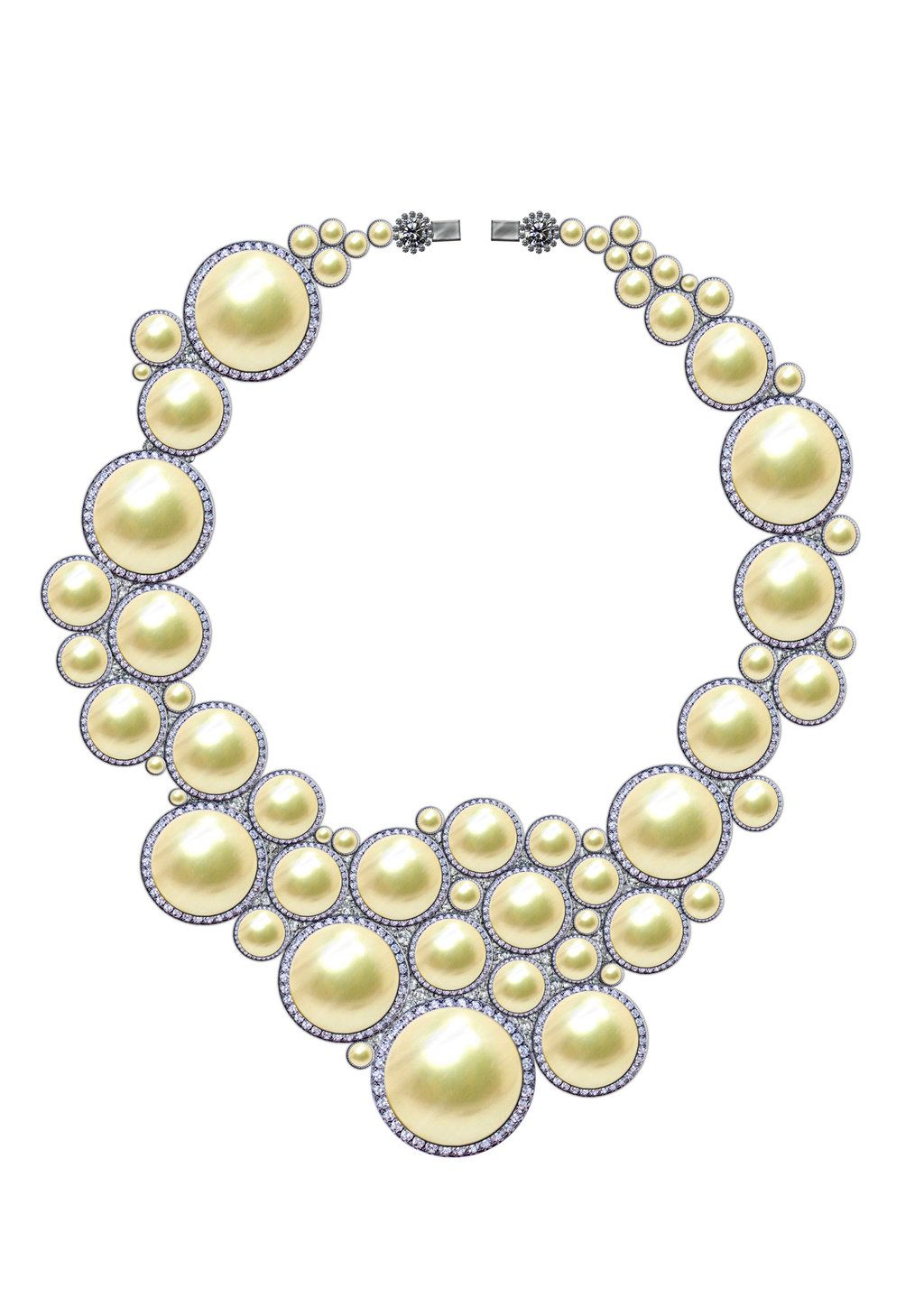 Look - Necklace pearl sketch photo video