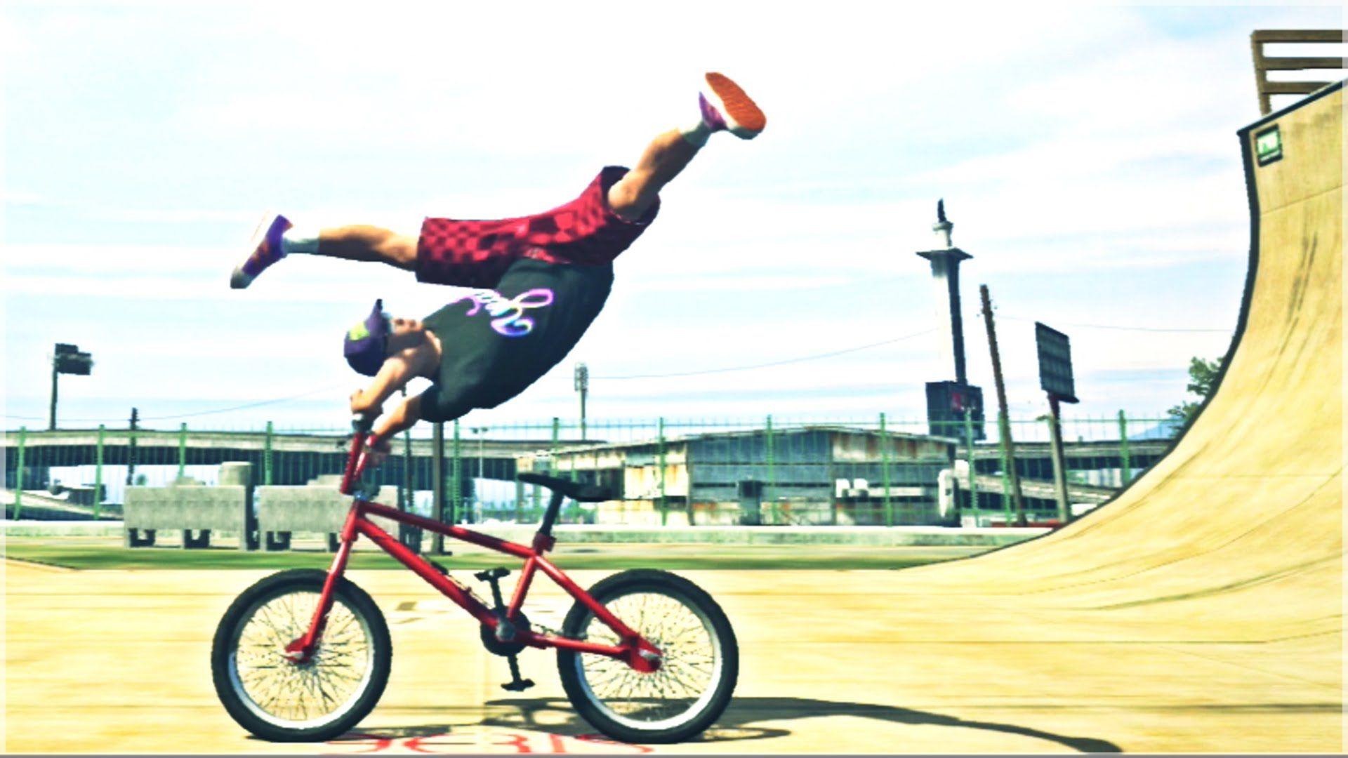 Gta 5 Bmx Freestyle 2 Gta V Bmx Stunts Montage Youtube Bmx