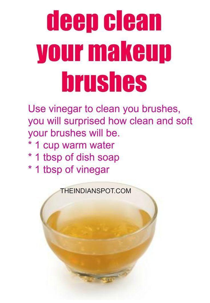 Photo of Vinegar Makeup Brush Cleaner for deep cleaning of your brushes – Vinegar Makeup …