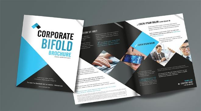 Free Corporate Business Brochure Template Designs - Free tri fold brochure templates for word