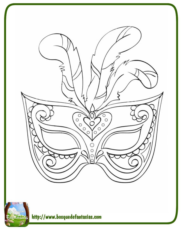 Mascaras venecianas de carnaval para colorear - Mascaras para carnaval ...
