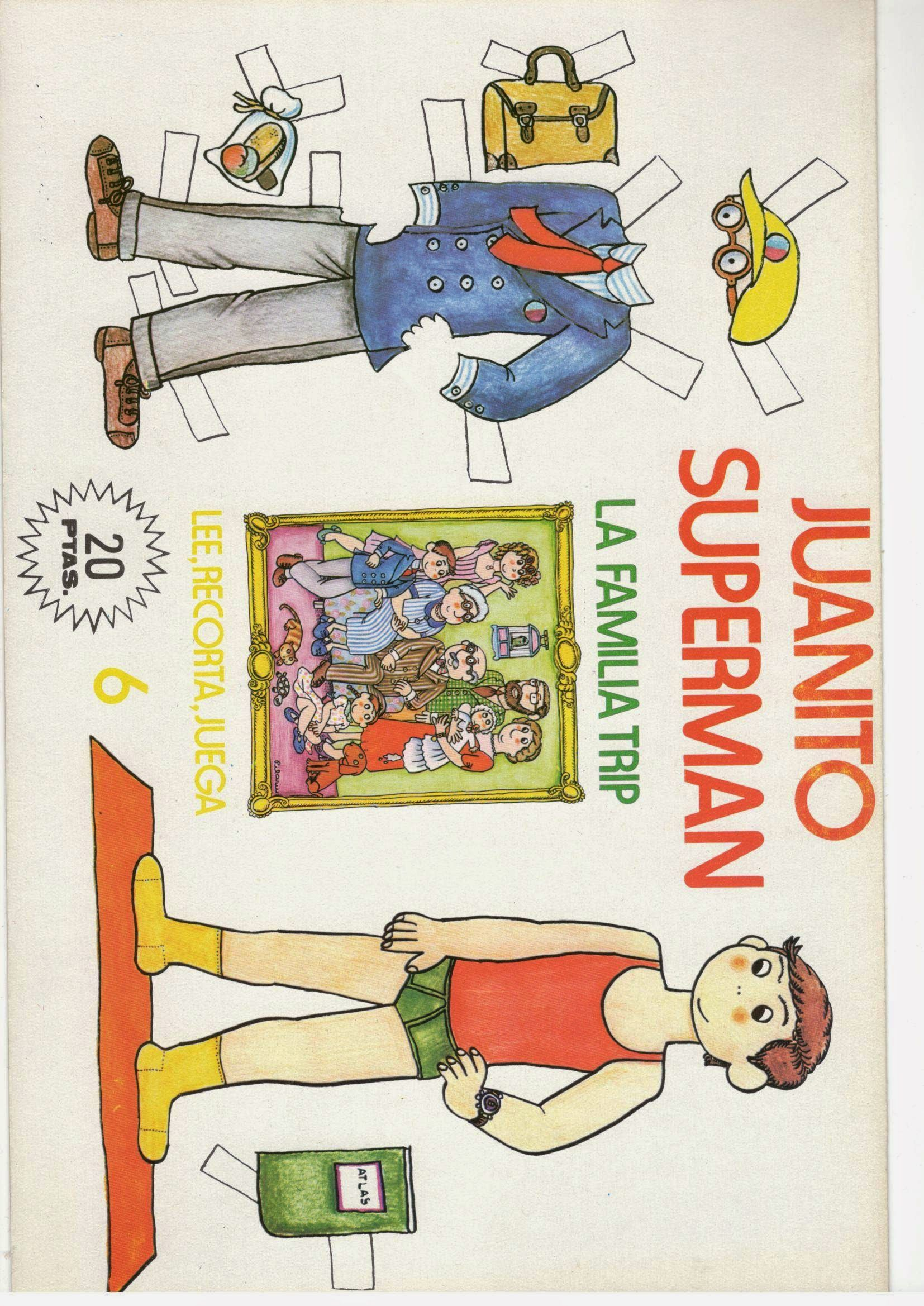 Spanish JUANITO SUPERMAN LA FAMILIA TRIP English LITTLE JOHN OR JOHNNY SUPERMAN FAMILY TRIP from Ѯ ULLA DAHLSTEDT'S GALLERY