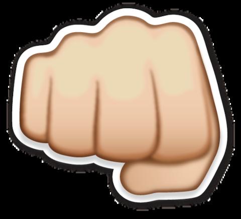 Fisted Hand Sign Hand Emoji Emoji Stickers Emoji