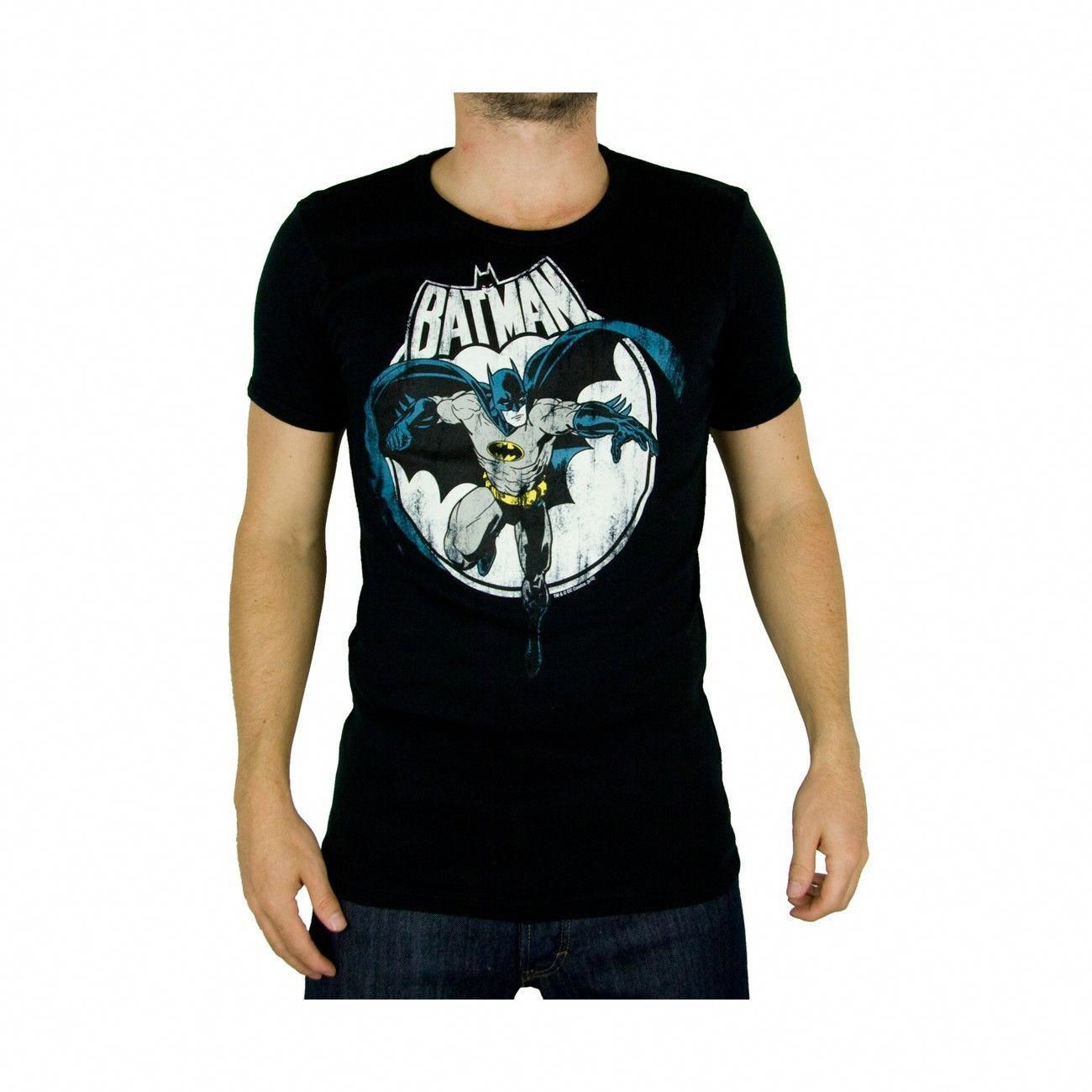 DC Comics Batman Vintage T-Shirt Uomo