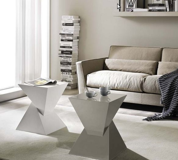 moderner couchtisch weiß beige creme wohnzimmer Möbel Ideen - couchtisch weiss design ideen