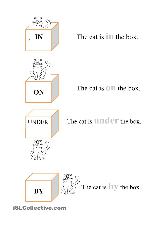 worksheet In On Under By Worksheets in on under by proyectos que intentar pinterest worksheets pro for kindergarten