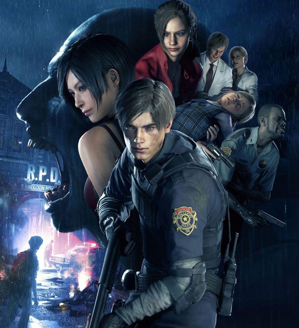 Characters Promo Artwork From Resident Evil 2 Residentevil Art
