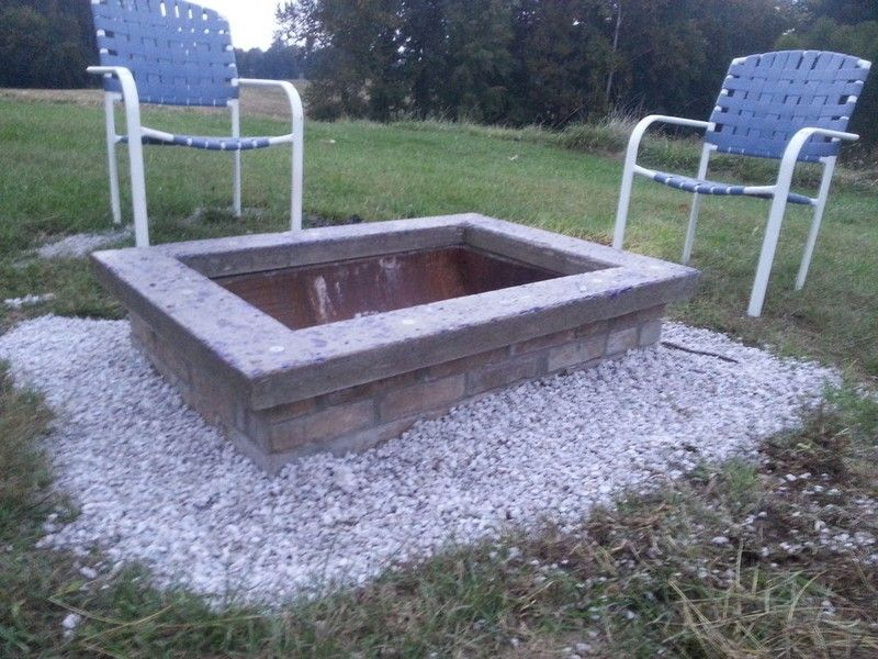 Diy Fire Pit With Custom Cap Stone Your Projects Obn Homemade Fire Pit Outdoor Garden Furniture Fire Pit Backyard Diy