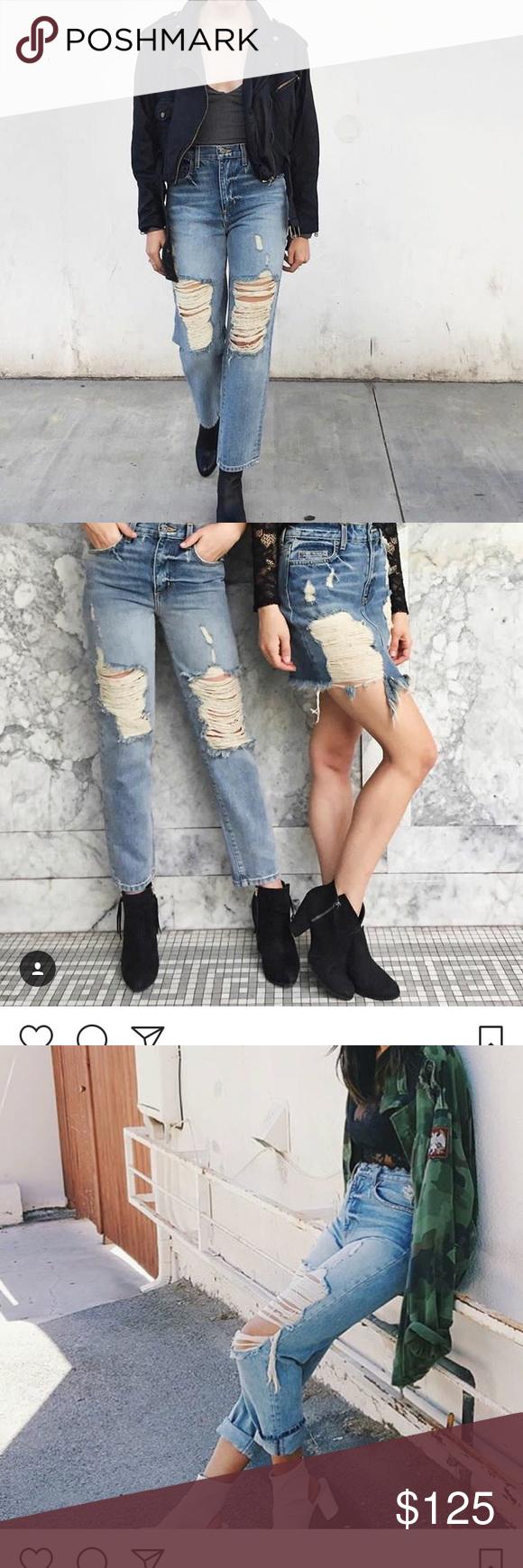 ⭐️ LF ⭐️ CARMAR Distressed Boyfriend Jeans NWOT never worn, tags taken off. Brand new!! LF Jeans Ankle & Cropped