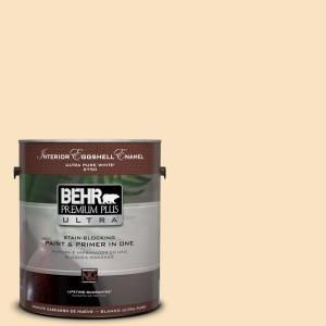 BEHR Premium Plus Ultra Home Decorators Collection 1 Gal. #HDC CT 03  Candlewick Eggshell Enamel Interior Paint And Primer In One 275001   The  Home Depot