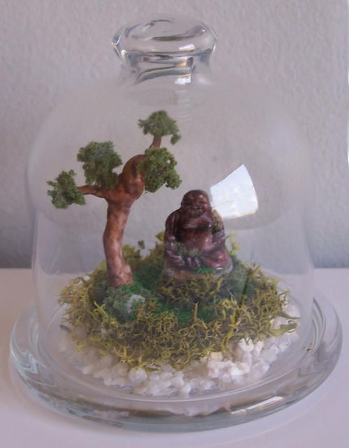 Gifts Ornaments Laughing Buddha In Mini Terrarium For Sale In