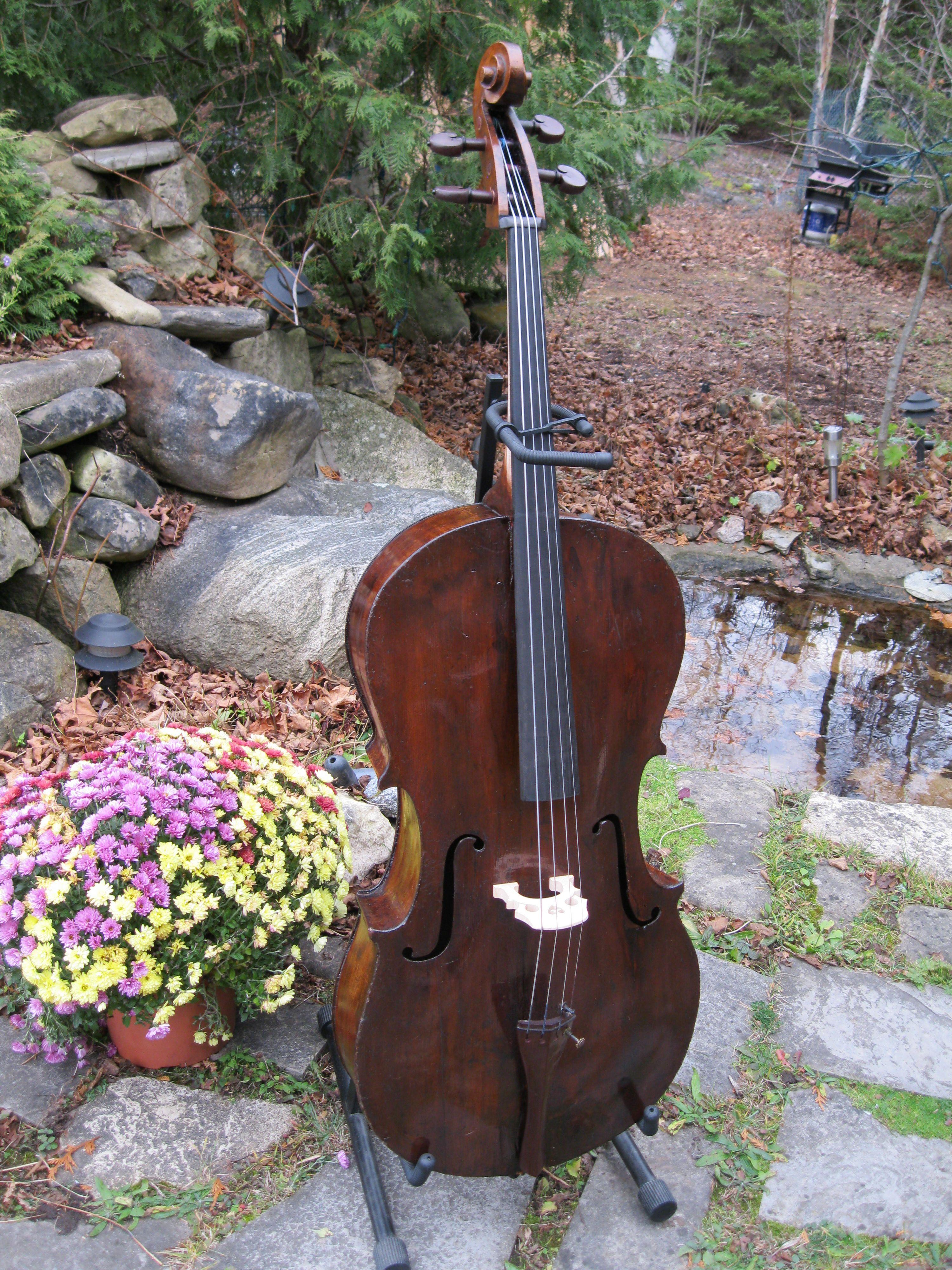 c1840s Churchbass N American cello