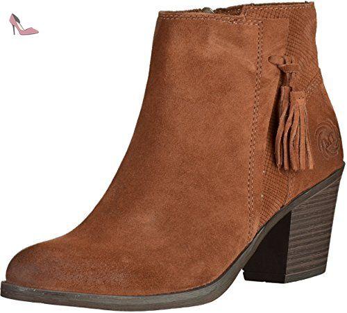 25376 27 40 Femmes Bottine Chaussures Cognac 2 Tozzi Eu Marco EqnZtt