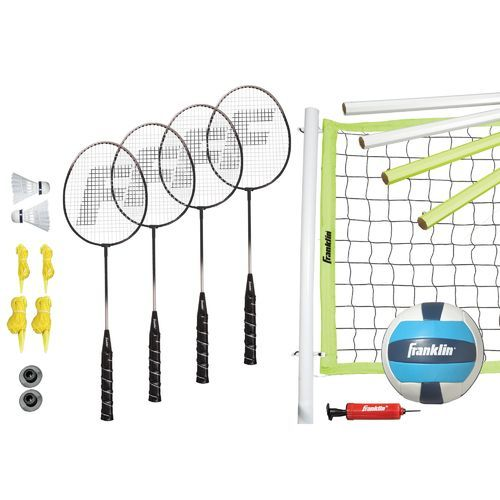 Franklin Sports Advanced Badminton And Volleyball Set Volleyball Set Badminton Set Franklin Sports