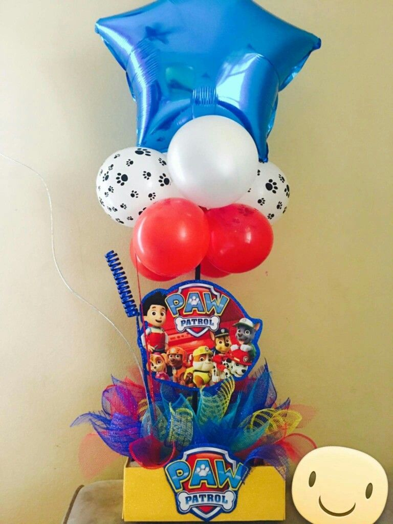 Paw patrol centerpieces birthday party