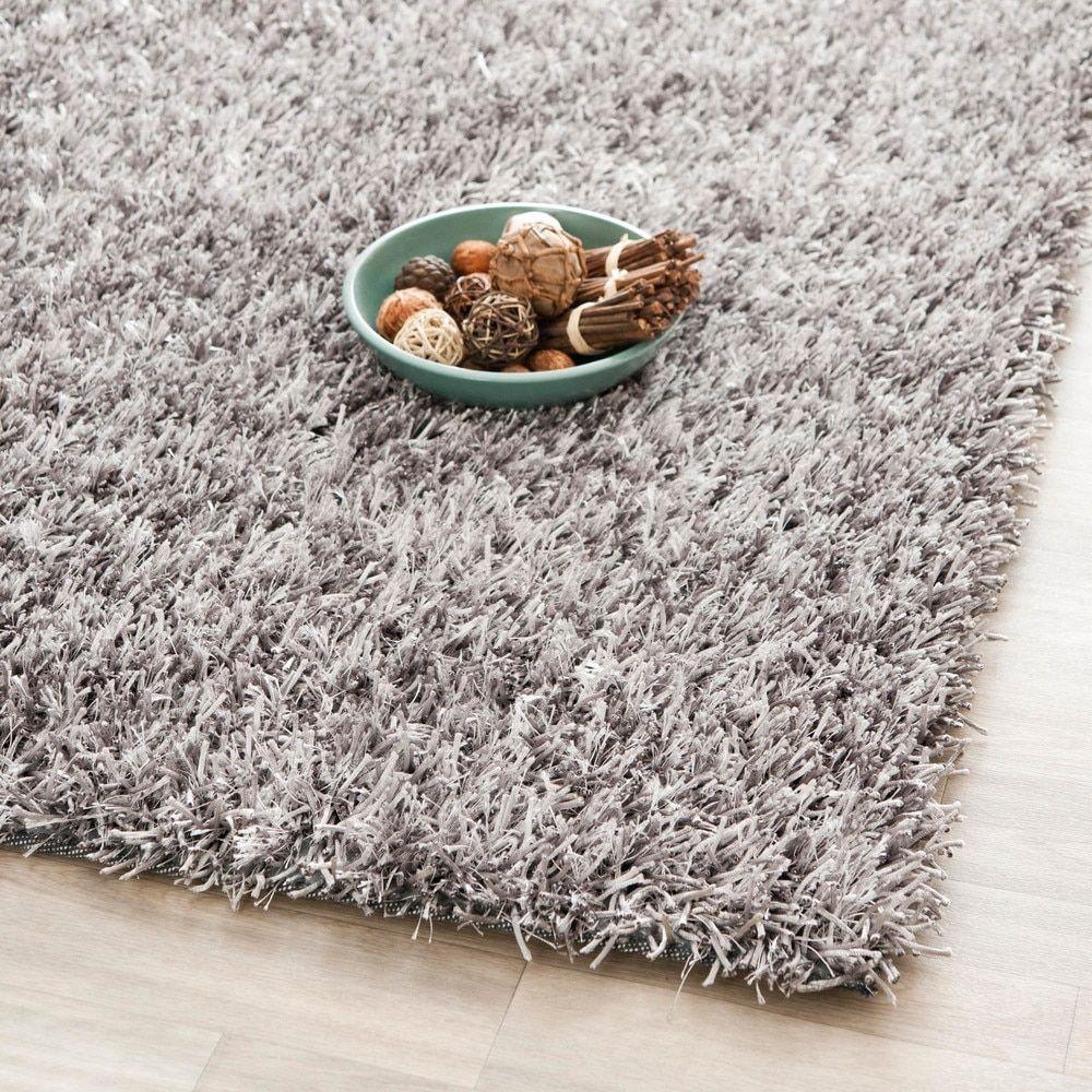 Safavieh Handmade New Orleans Grey Textured Polyester Area Rug 8 X 10