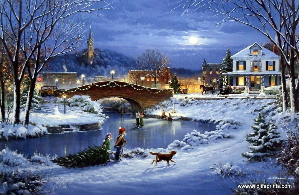 Künstler George Kovach Ungerahmter Weihnachtsdruck Treasured Memories