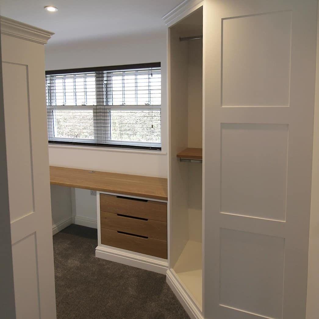Bespoke Under Stairs Shelving: Handmade Dressing Room Wardrobes. Sprayed White And Oak
