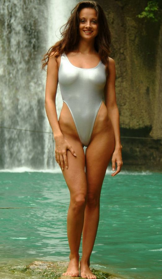 Sexy girls in one piece swimsuits