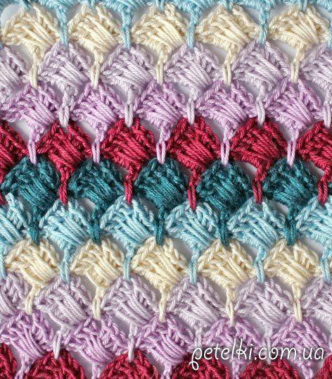 Crochet patrón de color de doble cara. La clase magistral esquema ...