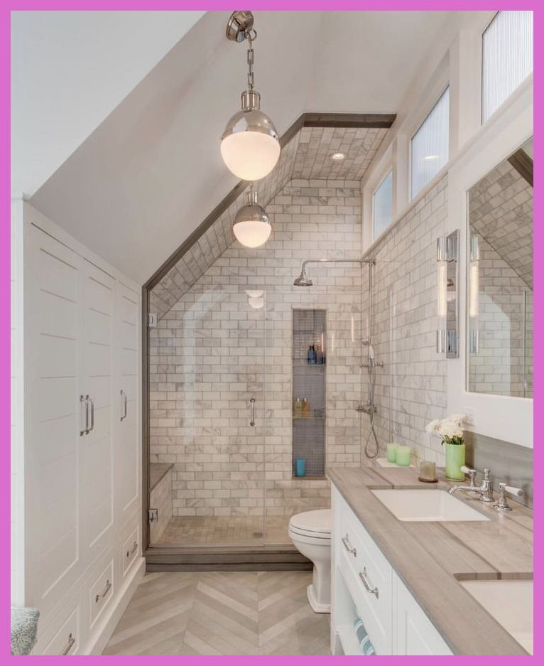 Breathtaking Attic Bathroom Ideas Bathroom Remodel Small Bathroom Remodel Bathrooms Remodel Sloped Ceiling Bathroom
