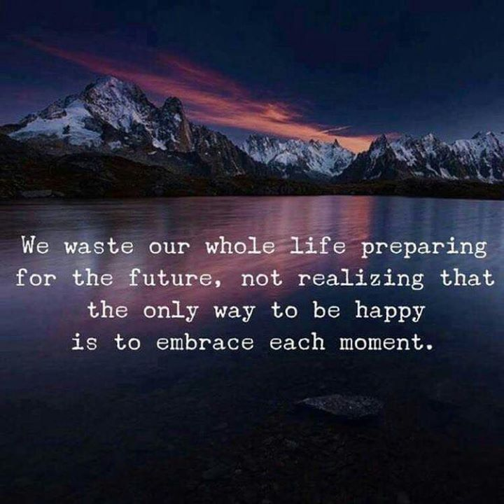 Inspirational Positive Quotes :We waste our whole life preparing for the future..