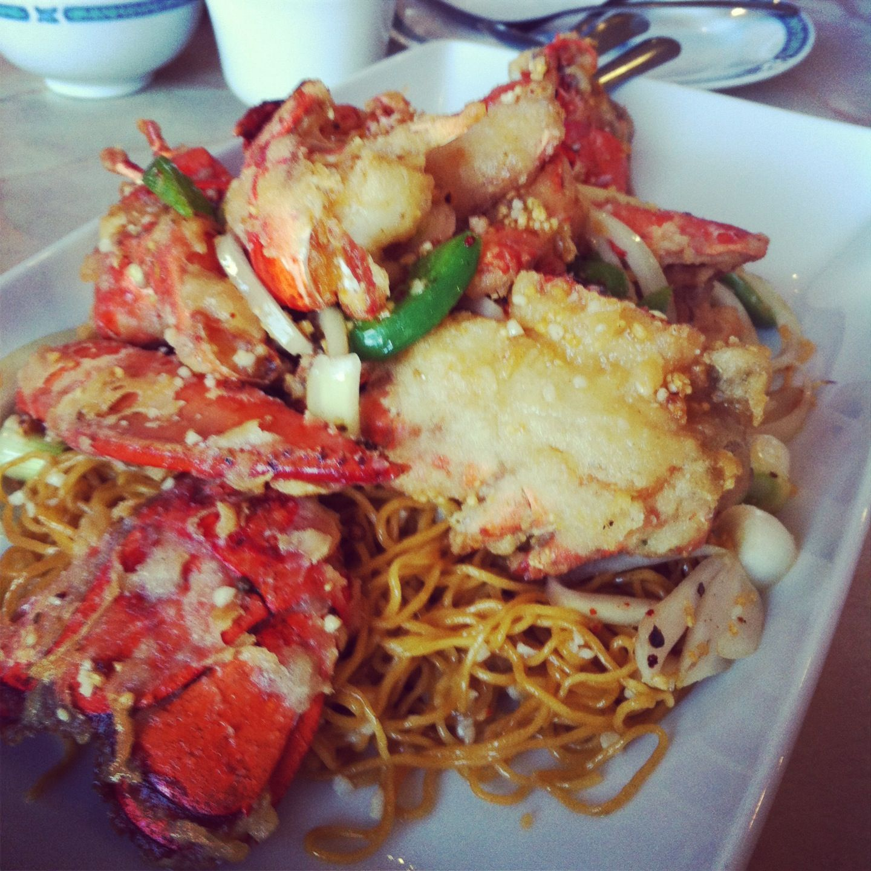 Lobster Garlic Noodle Of Sam Kee Restaurant In Aborn San Jose Ca It S Soooo Good Food Garlic Noodles Foodie