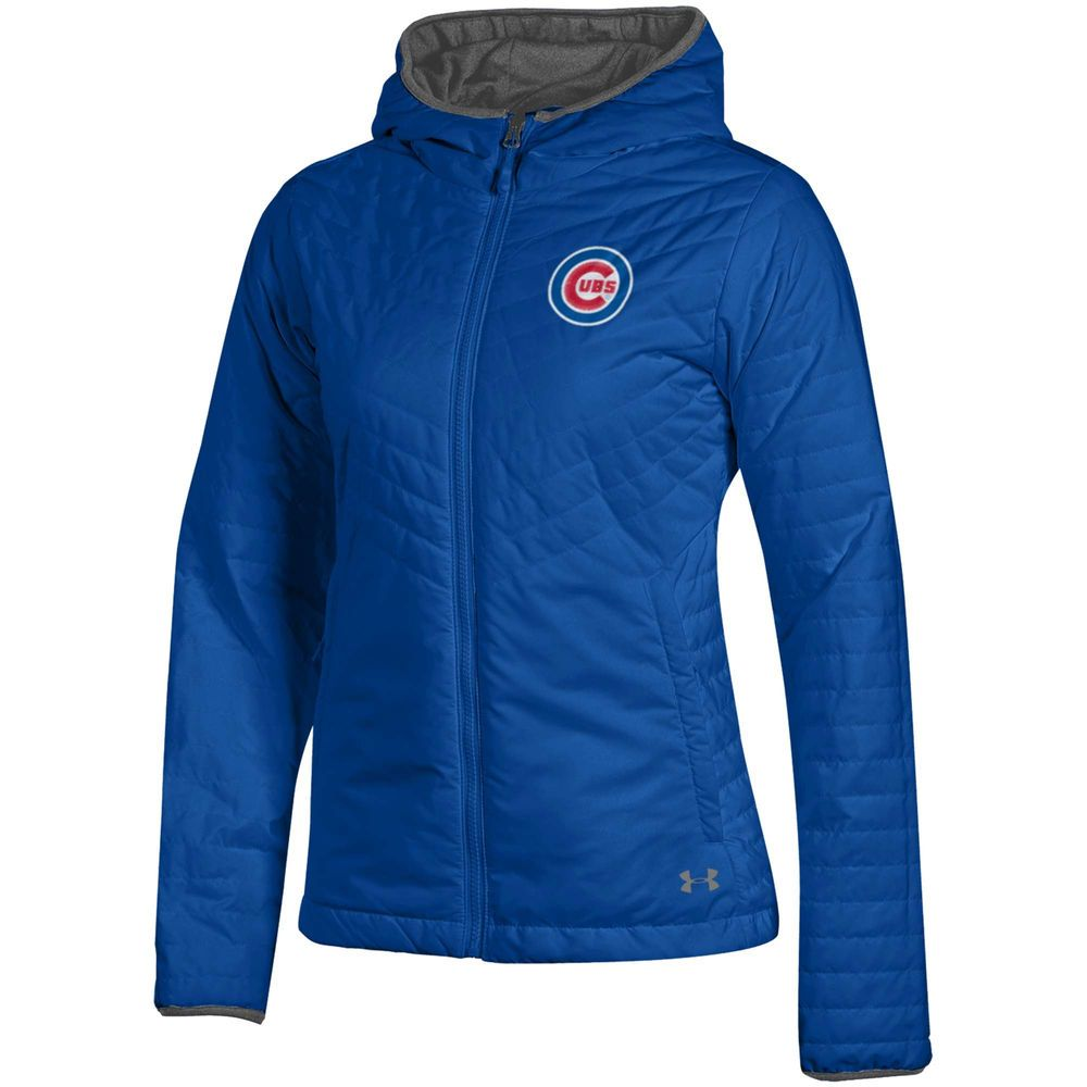 store new authentic more photos Women's Chicago Cubs Under Armour Royal Lightweight Full-Zip ...