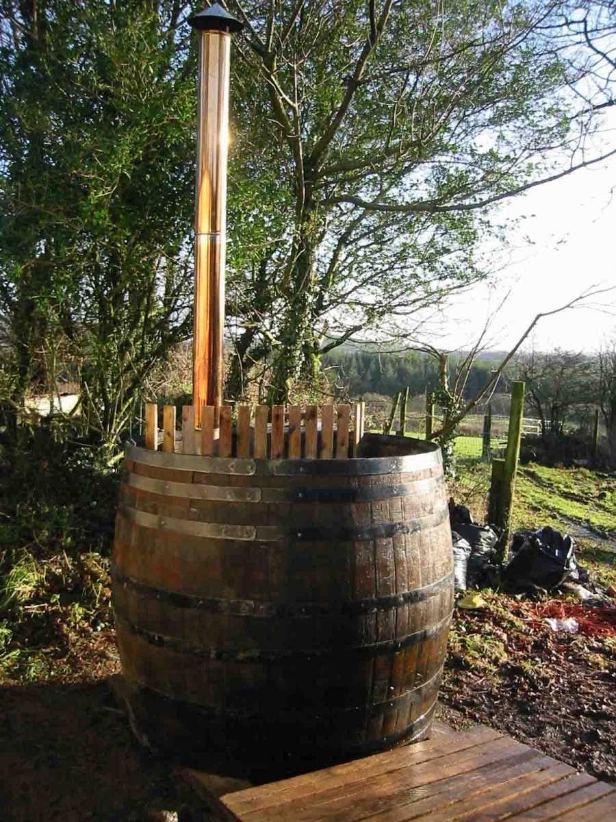 Phillip Lander S Oak Barrel Bath Pool Hot Tub Diy Hot Tub Oak