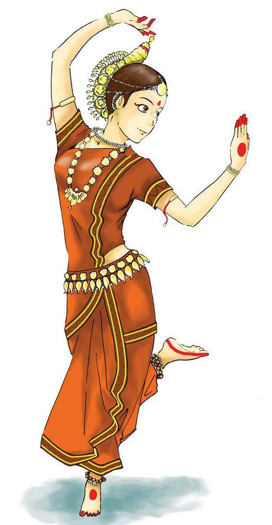 Odissi Orissa Dance Paintings Dancing Drawings Dancers Art
