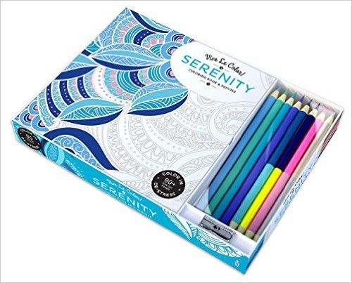 Vive Le Color! Serenity (Adult Coloring Book and Pencils): Color Therapy Kit: Abrams Noterie, Original French Edition by Marabout:…