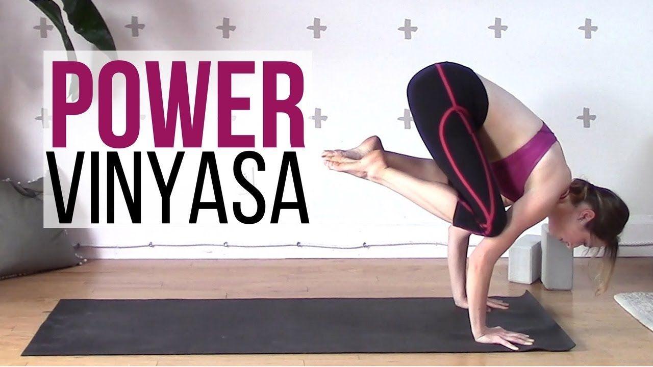 Power Vinyasa Intermediate Yoga Workout {40 min}   Yoga with