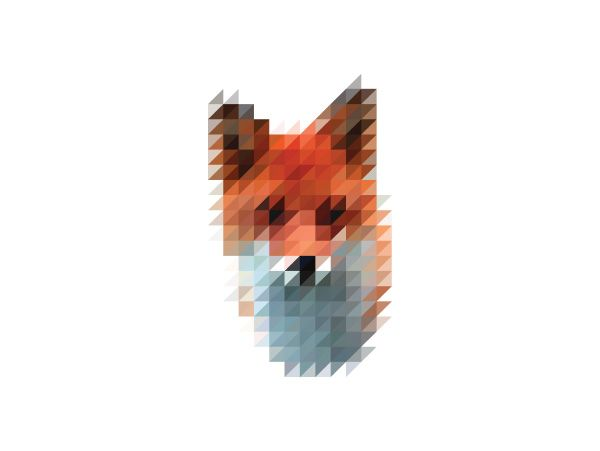 Flyer Goodness: Pixelated Animal Heads by Victor Gaasbeek