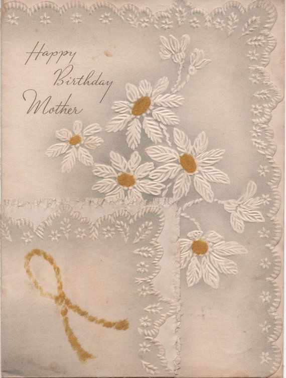 Used 1943 Happy Birthday Mother Greeting Card A Little Spotting