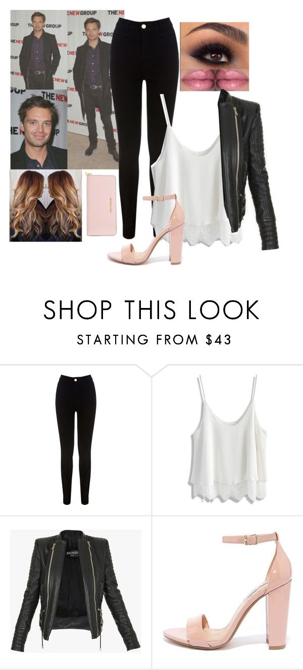 """⤵⏬⬇"" by brenda0rtiz ❤ liked on Polyvore featuring Oasis, Chicwish, Balmain, Steve Madden and Michael Kors"