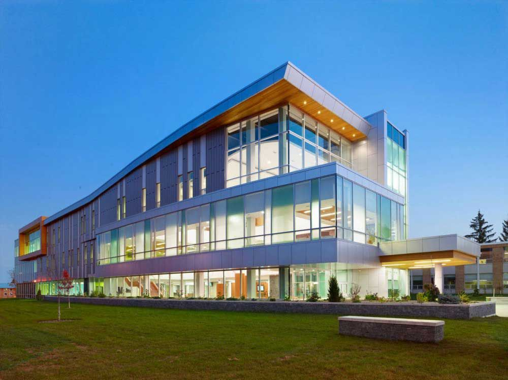 Modern architecture buildings sault college academic for School building design