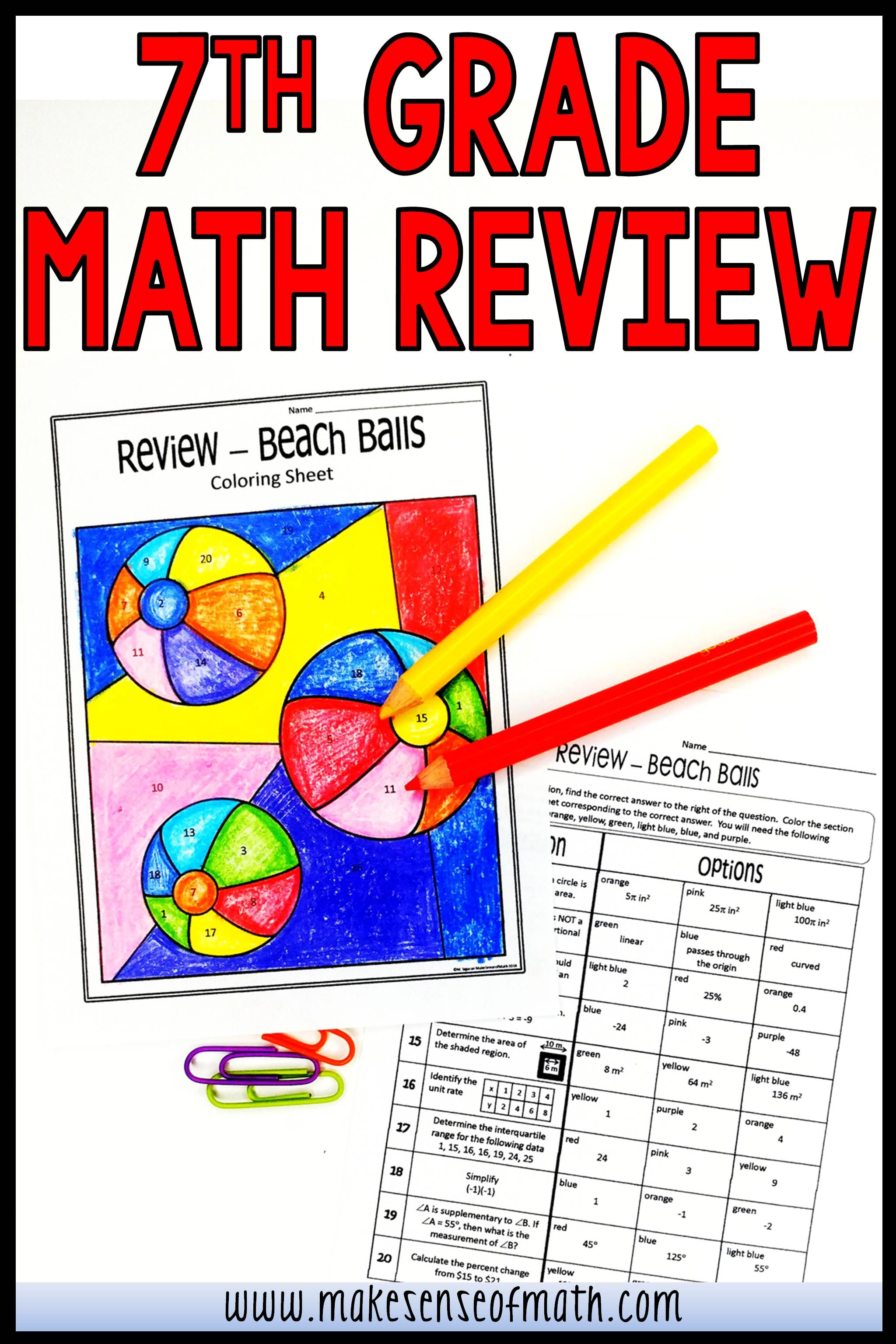 7th Grade Math Review