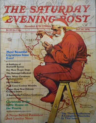1976 - Dec 25 - The Saturday Evening Post - Santa Claus Cover - Christmas - OOP | eBay