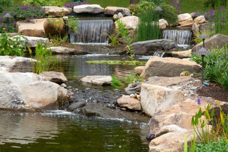 Faire un bassin de jardin 30 id es fantastiques emprunter pond backyard water feature and - Foto de bassin de jardin avec cascade ...