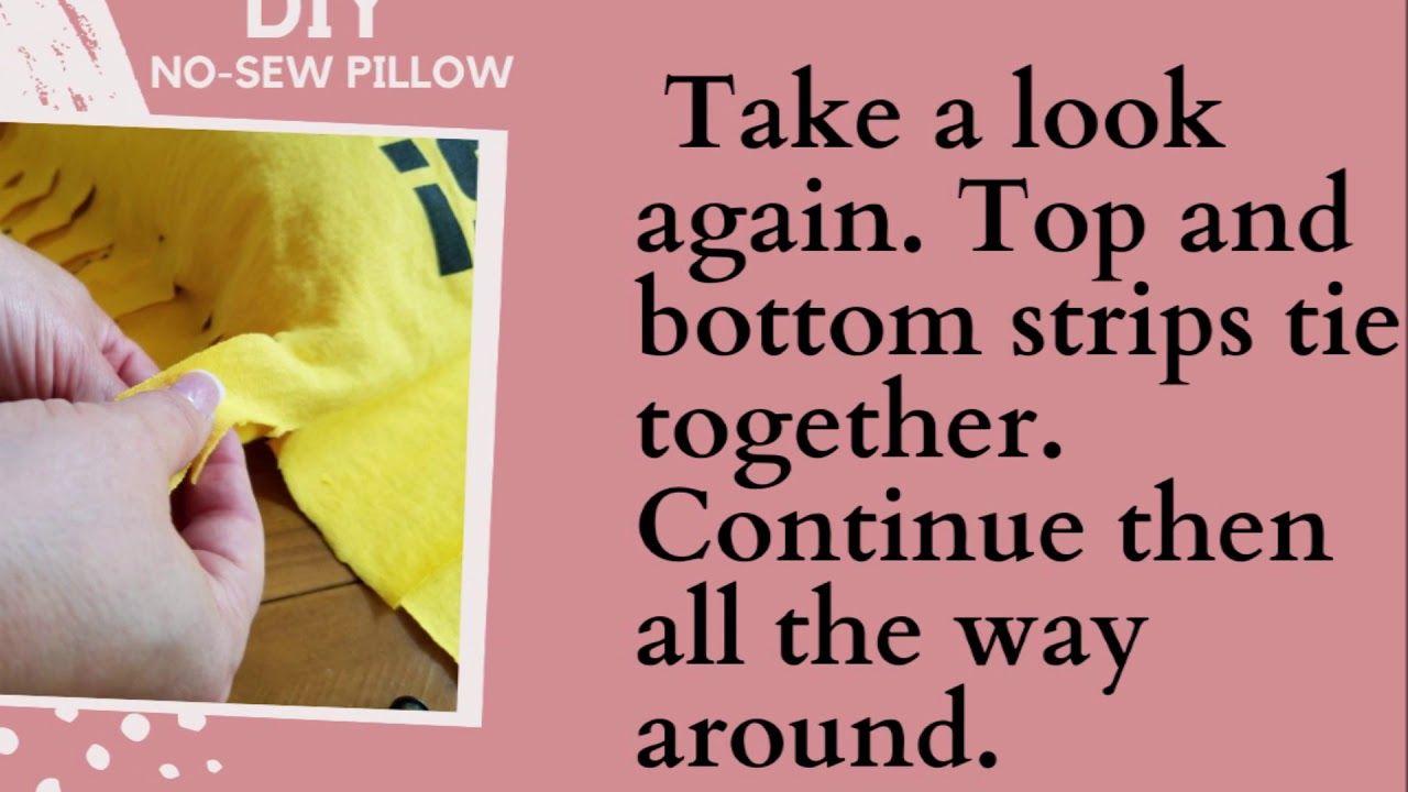diy No-Sew T Shirt Pillows #nosewshirts