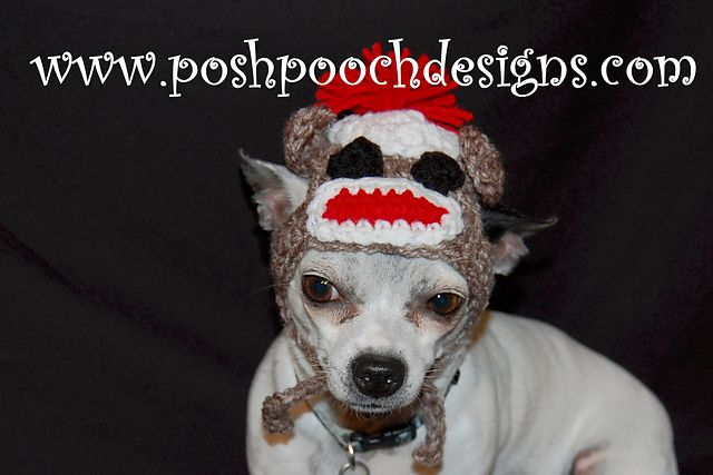 07e73a492e2 Ravelry  Sock Monkey Hats For Dogs pattern by Sara Sach