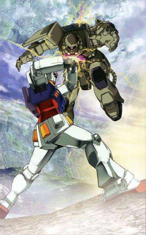 Gundam Rx 78 2 Vs Zaku Ii Gundam Gundam Wallpapers Custom Gundam