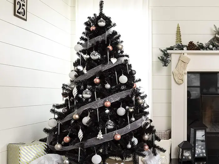 10 Of The Best Black Christmas Trees You Can Buy Online Right Now Black Christmas Trees Black Christmas Merry Christmas Decoration